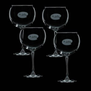 Connoisseur 19oz Balloon Wine Glasses Engraved (Set of 4)