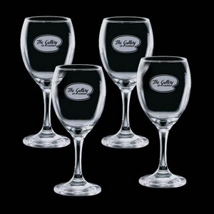 Carberry 11oz Wine Glasses Engraved (Set of 4)