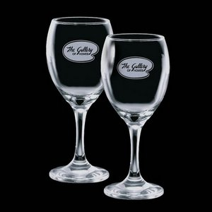 Carberry 8.5 oz Wine Glasses Engraved Glasses (Set of 2)