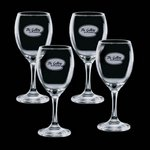 Carberry 8.5 oz Wine Glasses Engraved Glasses (Set of 4)