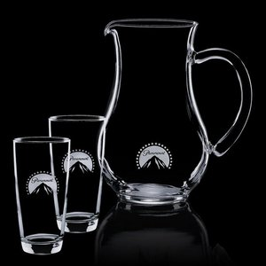 Carberry Pitcher and 2 Hiball Glasses