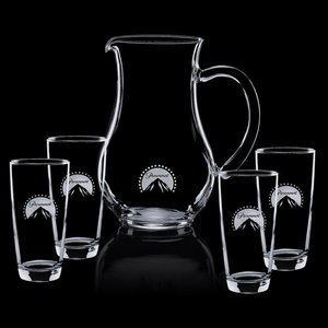 Carberry Pitcher and 4 Hiball Glasses