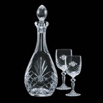 Cavanaugh Decanter and 2 Wine Glasses Engraved