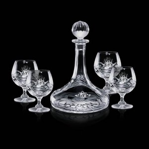 Cavanaugh Ship's Decanter and 4 Brandy