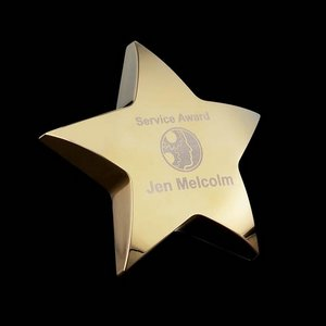 Hollister Standing Star - 4 in. Gold