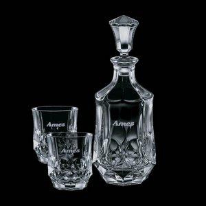 Foxborough Decanter and 2 On-the-Rocks