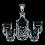 Foxborough Decanter and 4 On-the-Rocks