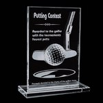 Cumberland Crystal Golf Award - 5 in. x 7 in.