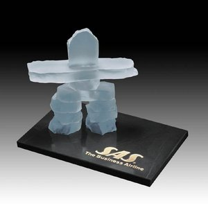 Inukshuk on Marble - Frosted 3.5 in.