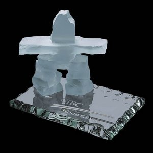 Inukshuk on Jade - Frosted 4.5 in.