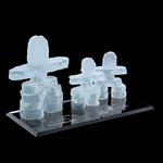 Frosted Inukshuk - Family of 3 on Ebony
