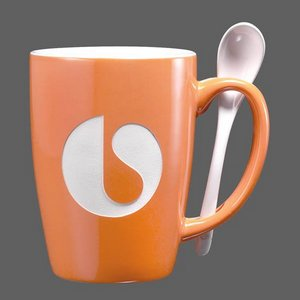 Winfield Mug and Spoon - 15oz Orange