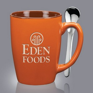 Roberta Spoon Mug - 16oz Rust