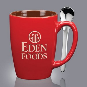 Roberta Spoon Mug - 16oz Crimson