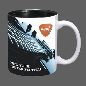 Sublimated Full Color Design Coffee Mug - 11oz Black