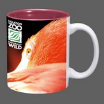 Sublimated Full Color Design Coffee Mug - 11oz Burgundy