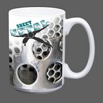 Sublimated Full Color Design Coffee Mug - 15oz White