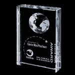 Ambassador Globe Award - Optical Crystal 4 in.x6 in.