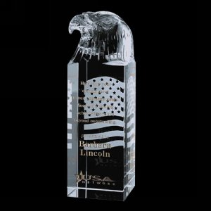 Stratton Eagle Award - Optical Glass 7in. High
