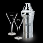 Rockport Shaker and 2 Belfast Martini Glasses