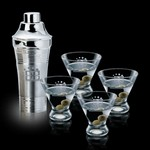 Rockport Shaker and 4 Brisbane Martini Glasses