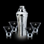 Rockport Shaker and 4 Palmer Martini Glasses