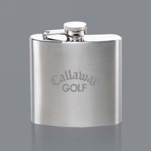 Orlando Hip Flask - 6oz Brushed Stainless