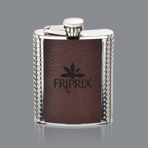Trubner Hip Flask - 6oz Brown Leather