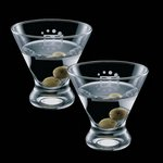 Brisbane 8oz Stemless Martini Glasses (Set of 2)