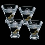 Brisbane 8oz Stemless Martini Glasses (Set of 4)