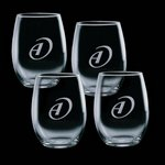 Stanford 9oz Stemless Wine Glasses Engraved (Set of 4)