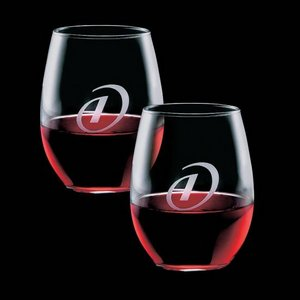 Stanford 21oz Stemless Wine Glasses Engraved (Set of 2)
