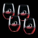 Stanford 21oz Stemless Wine Glasses Engraved (Set of 4)