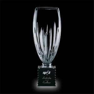 Albright Trophy - Crystal with Optical Black Glass Base 14?in