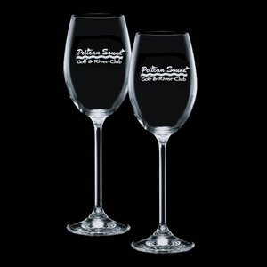 Woodbridge 12oz Wine Glasses Engraved (Set of 2)