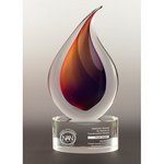 Flare Art Glass Award Small