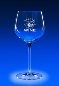 Reflections Stemware Balloon Engraved Wine Glass
