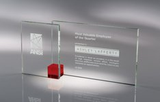 Shadow Glass Award Red - SM