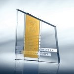 Chroma Amber Optical Crystal Award