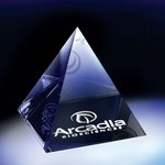 Optic Crystal Pyramid Paperweight