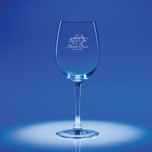 Lyrica White Wine Engraved Glass