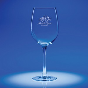 Lyrica Red Wine Engraved Glass