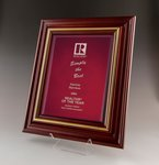 Cherry Award Plaques Burgundy Background