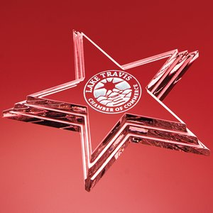 Polaris Optic Crystal Star Paperweight
