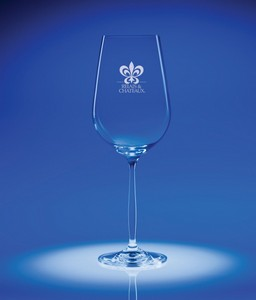 Bella Red Wine Engraved Glass