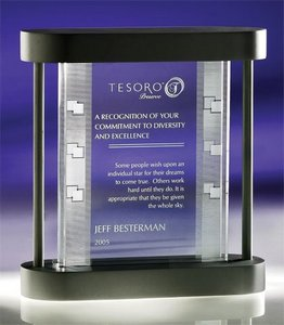 Etched Glass Plaque 3d
