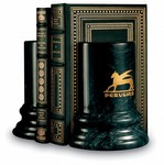 Black Marble Colonnade Bookends