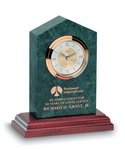 Cathedral Clock Green Marble Award 