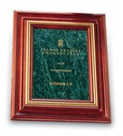 Cherry Plaque Green Marble Award 