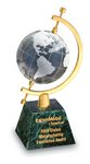 Celestial w/ Crystal Globe  Green Marble Award 